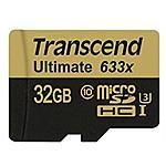 TRANSCEND - Micro SDXC / SDHC UHS-I Speed Class 3 (U3) 633x 32...