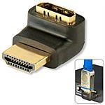 LINDY - Adattatore HDMI M / F a 90 gradi