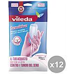 VILEDA - Set 12 Guanti Sensitive S Giardinaggio