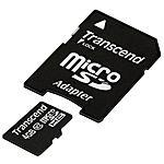 TRANSCEND - Scheda di memoria MICRO-SDHC con Adattatore