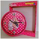 MATTEL - Barbie - Orologio Da Muro Rosa