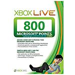 MICROSOFT - X360 - Live Point 800 Punti Card Sleeved