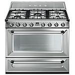 SMEG - Cucina Elettrica TRI90X1 con 5 Zone Cottura a Gas...