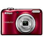 NIKON - Coolpix A10 Rosso Sensore CCD 16Mpx Zoom ottico 5x...