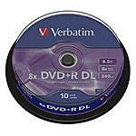 VERBATIM - DVD+R DL Spindle 10pz 8x 8.5GB / 240'