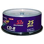 FUJIFILM - CD-R 700 MB 52x 80 Min 25 Pezzi 17035