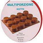 PAVONI IDEA - Stampo Silicone Per Muffin 12 Cavità Pavoni