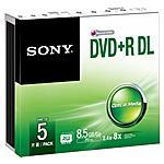 SONY - Dvd+r Double Layer 8 5 Gb Sp 5 Pz