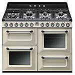SMEG - TR4110P1 Cucina a 7 Fuochi Gas 3 Forni Classe A...