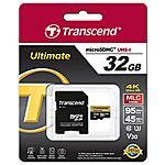 TRANSCEND - TS32GUSDU3M 32GB MicroSDHC Classe 10 memoria flash