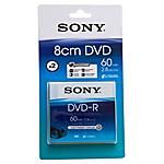 SONY - Confezione Blister da 2 DVD-R da 8 cm (una sola...