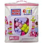 MEGA BLOKS - First Builders - Sacca Eco 60 Pezzi Colore Rosa