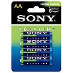 SONY - Alkaline, 4 x AA, Alcalino, Cilindrico, AA, Blu,...