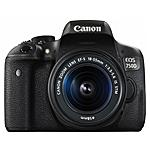 CANON - EOS 750D Kit 18-55 IS STM Nero Sensore CMOS 24 Mpx...