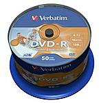 VERBATIM - 43533 Spindle 50 Dvd-r 16x 4.7gb Pr