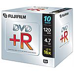 FUJIFILM - Dvd R 4 7gb 16x Jewel Case Conf 10p
