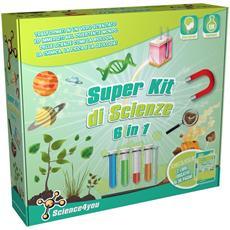 Super Scienze Kit 6 In 1 - Gioco Educativo E Scientifico