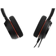 Evolve 20 MS Stereo, Stereofonico, Nero, Padiglione auricolare, Cablato, USB, Sovraurale