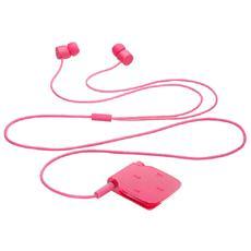 auricolare bluetooth filo rosa