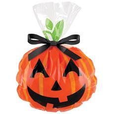 12 Sacchetti Porta Dolcetti Di Halloween Con Zucca Sorridente