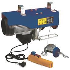 Verricello Elettrico Carrucola A Motore 150/300 Kg Con Telecomando A Cavo