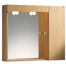 Specchio Con 1 Anta Destra O Sinistra E 2 Ripiani Montato