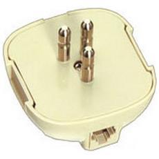 Spina Tripolare Unificata Per Telefono Con Presa 6 Poli 4 Contatti