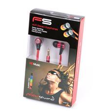 FH2110RB, Interno orecchio, Apple, Cablato, Nero, Rosso, iPhone / iPad / iPod