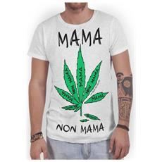 T-shirt Uomo Mama Non Mama L Bianco
