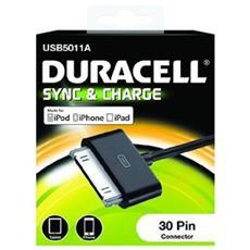 Cavo per trasferimento dati DURACELL - for iPod, iPhone - Connettore proprietario