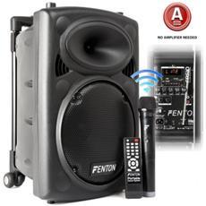 Cassa Amplificata Ricaricabile + Bluetooth + Usb + Display + Microfono Wir. + Telecomando Art. 170030