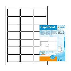 Labels white 63,5x38,1 SuperPrint 2100 pcs. , Bianco, Labels / pack - 2100 pcs. Sheets / pack - 100 pcs, 63, 5 x 38, 1 mm, A4 sheets, border on all sides