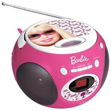 Radio Lettore CD Barbie, 2 x 0.8 W, AUX in