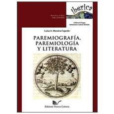 Paremiografía, paremiología y literatura