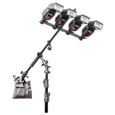 Multi Boom 28 Stativo Supporto sostegno per 4 flash e ombrello