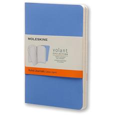 Taccuino Journal Volant Pocket a Righe Larghe Blu 2 Pezzi
