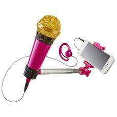Selfie Mic Rosa - Microfono + Strumenti Selfie