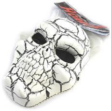 travestimento maschera 'tête de mort' bianco nero (parrucca) - [ m9099]