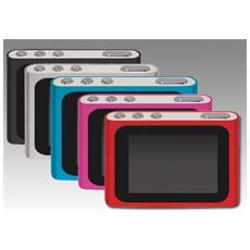 27702S, MP4, Flash-media, Argento, USB 2.0, MP3, WAV, WMA, AMV, AVI