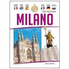 Milano map souvenir. Guida e mappa