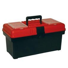 Cassetta Portattrezzi in Plastica Antiurto 2 Vaschette Esterne e 1 Interna