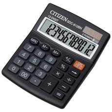 Calcolatrice da Tavola Nero 12 Cifre Solare e a Batteria Z200512