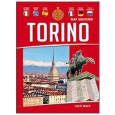 Torino map souvenir. Guida e mappa
