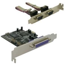 PCI Express card 2 x serial, 1x parallel, PCIe, Cablato, Windows 2000 / XP, 2003, 2 x DB9 RS-232 1 x DB25