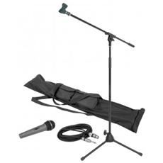 Set Voce: Asta Microfono + Microfono + Cavo + Borsa + Clip X Asta Art 180059