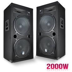 """Una Coppia Di Diffusori Passivi Suono Pa 2x15 """""""" / 38 Centimetri A 3 Vie Bass Reflex 2x1000w Lsc215"""