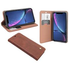 Iphone Xr Cuoio Di Vibrazione Di Caso Marrone Sguardo Manica