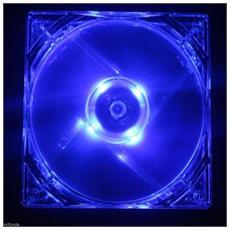 Ventola Di Raffreddamento Per Case Trasparente 12x12x12 Linq Con 4 Led Blue E Verde