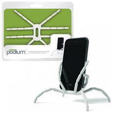 Supporto Spider Podium Universale Pieghevole Da Tavolo, Auto, Bici Per Smartphone Colore Bianco Xl 813