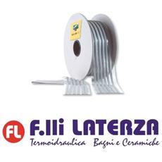 """Butil Strip """"""""z"""""""" Sigillante In Strisce Stucco Grigio 10 X 3 Mm. Rotolo Da 150 Mt."""